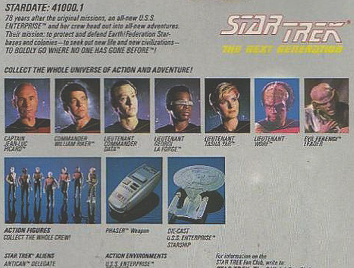 Star Trek Generations Toys Star Trek Toys